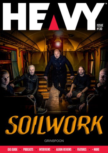 HEAVY Magazine Digi-Mag cover with Soilwork band