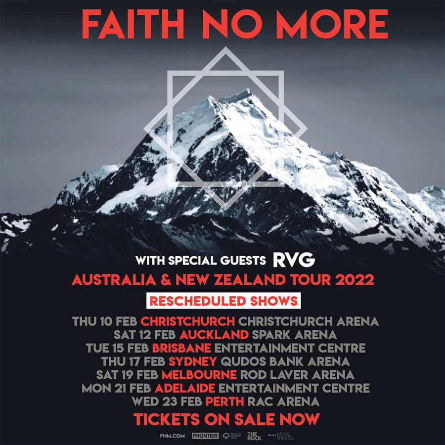 FAITH NO MORE Announce Rescheduled Tour Dates