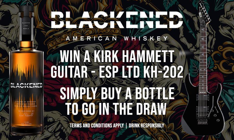 Win A KIRK HAMMETT Guitar Thanks To Blackened American Whisky