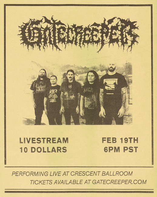 GATECREEPER With Livestream Concert