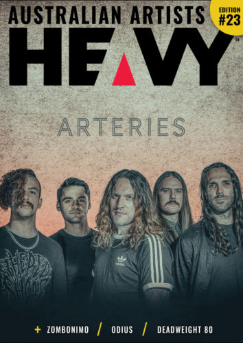 Heavy Magazine cover with Arteries