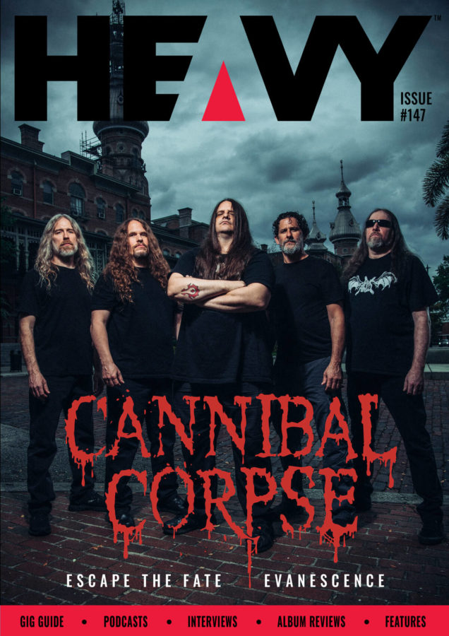 Heavy Magazine cover with Cannibal Corpse