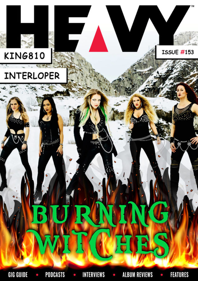 HEAVY Magazine cover with Burning Witches