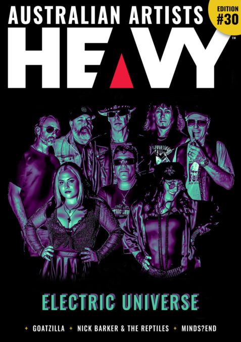 HEAVY Magazine - Australian Issue #30 cover with Electric Universe