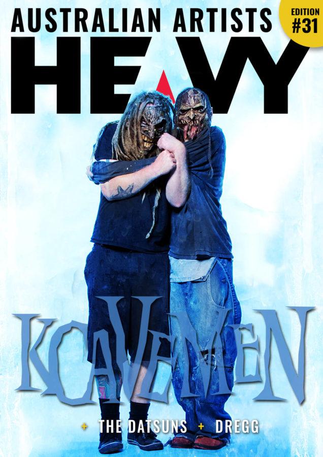 HEAVY Magazine cover with KCavemen