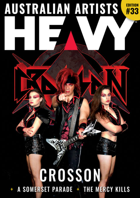 HEAVY Magazine cover with Crosson band