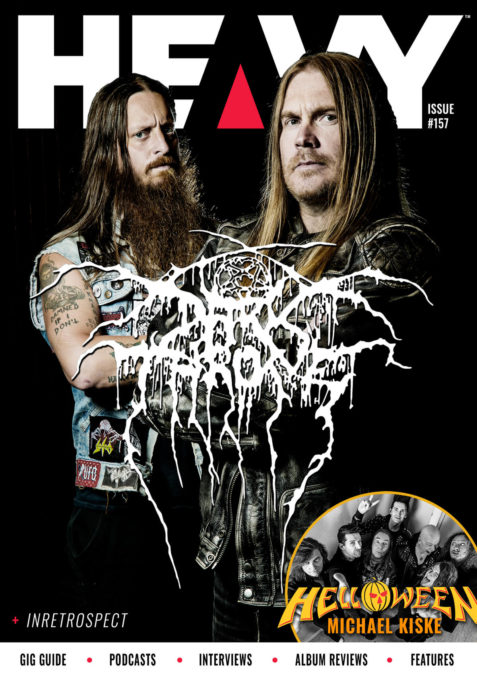 HEAVY Magazine cover with Darkthrone
