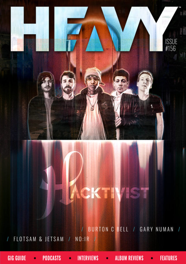 Hacktivist band on the cover of HEAVY