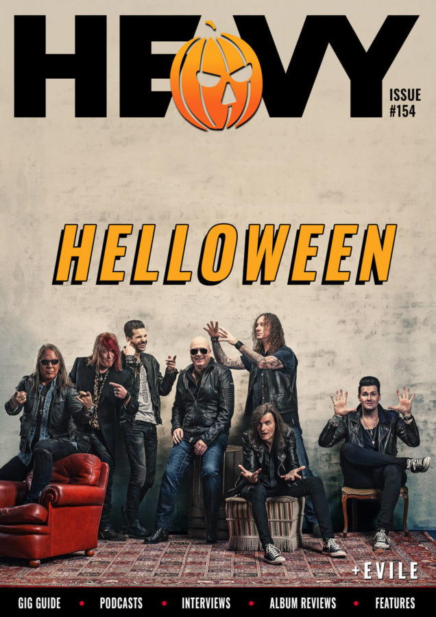 HEAVY Magazine cover with Helloween