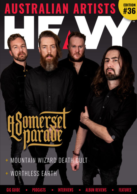 HEAVY Australia cover #36 with A Somerset Parade
