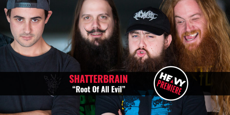 """HEAVY Premiere: SHATTER BRAIN """"Root Of All Evil"""""""