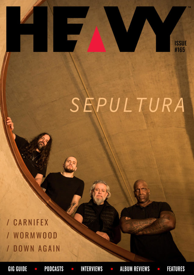 HEAVY Magazine cover #164 with Sepultura
