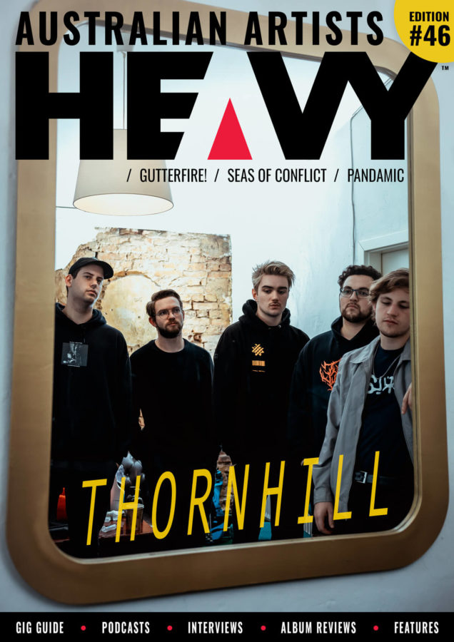HEAVY Magazine cover with Thornhill band