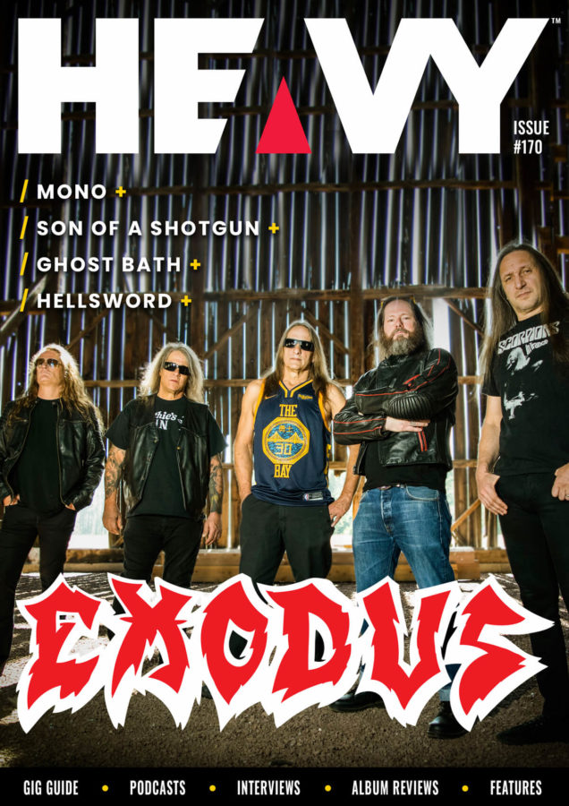 HEAVY Magazine cover with Exodus band