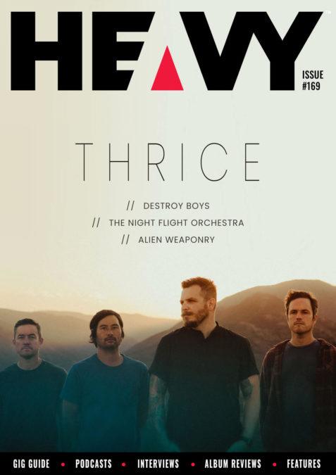 HEAVY Magazine cover with Thrice
