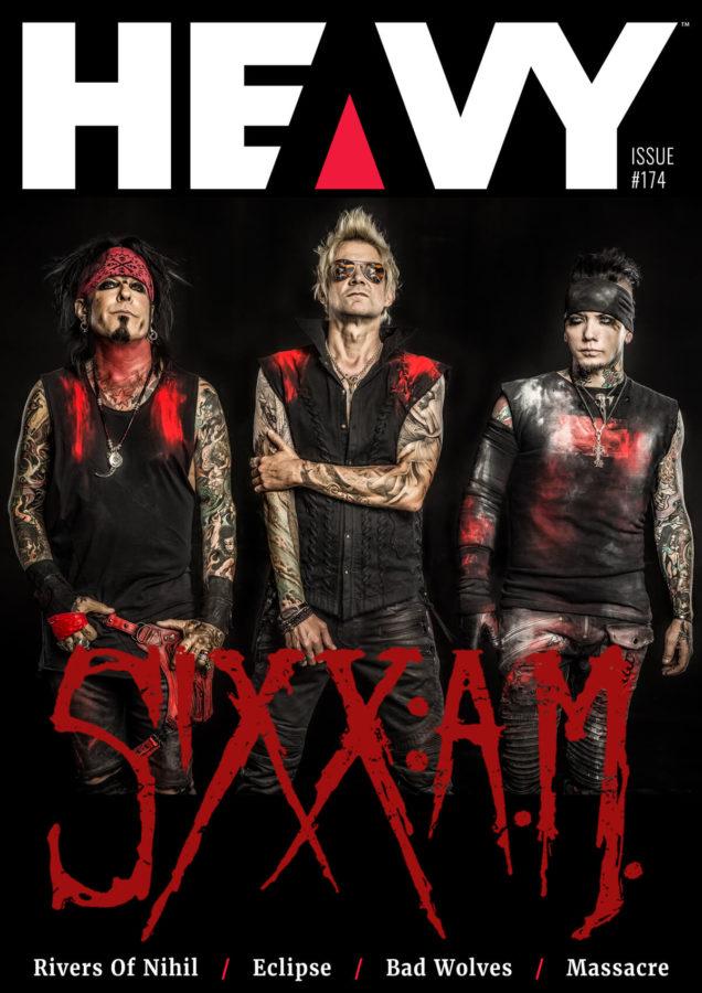 SIXX:A.M. Cover of HEAVY Magazine